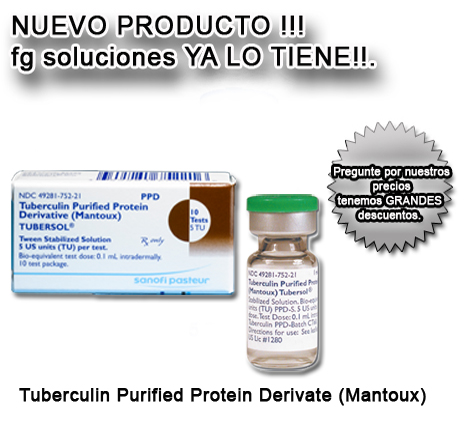 Slider Tuberculin ppd, diluted/aplisol  5TU
